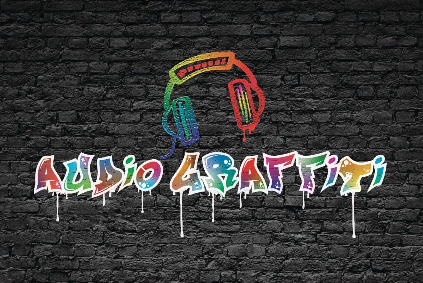 Audio Graffiti logo wall