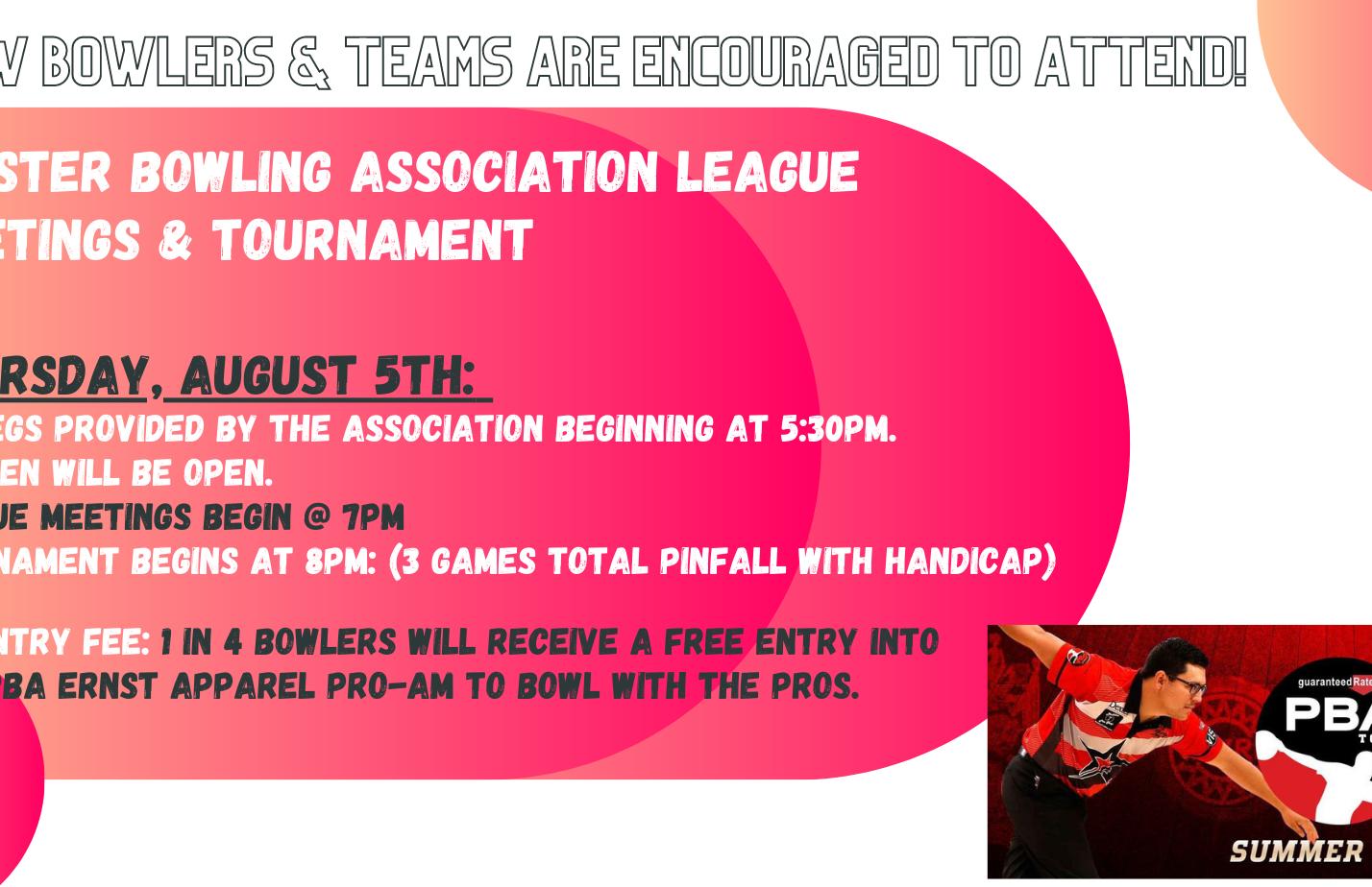 Minster Bowling Association 202122 League Meetings
