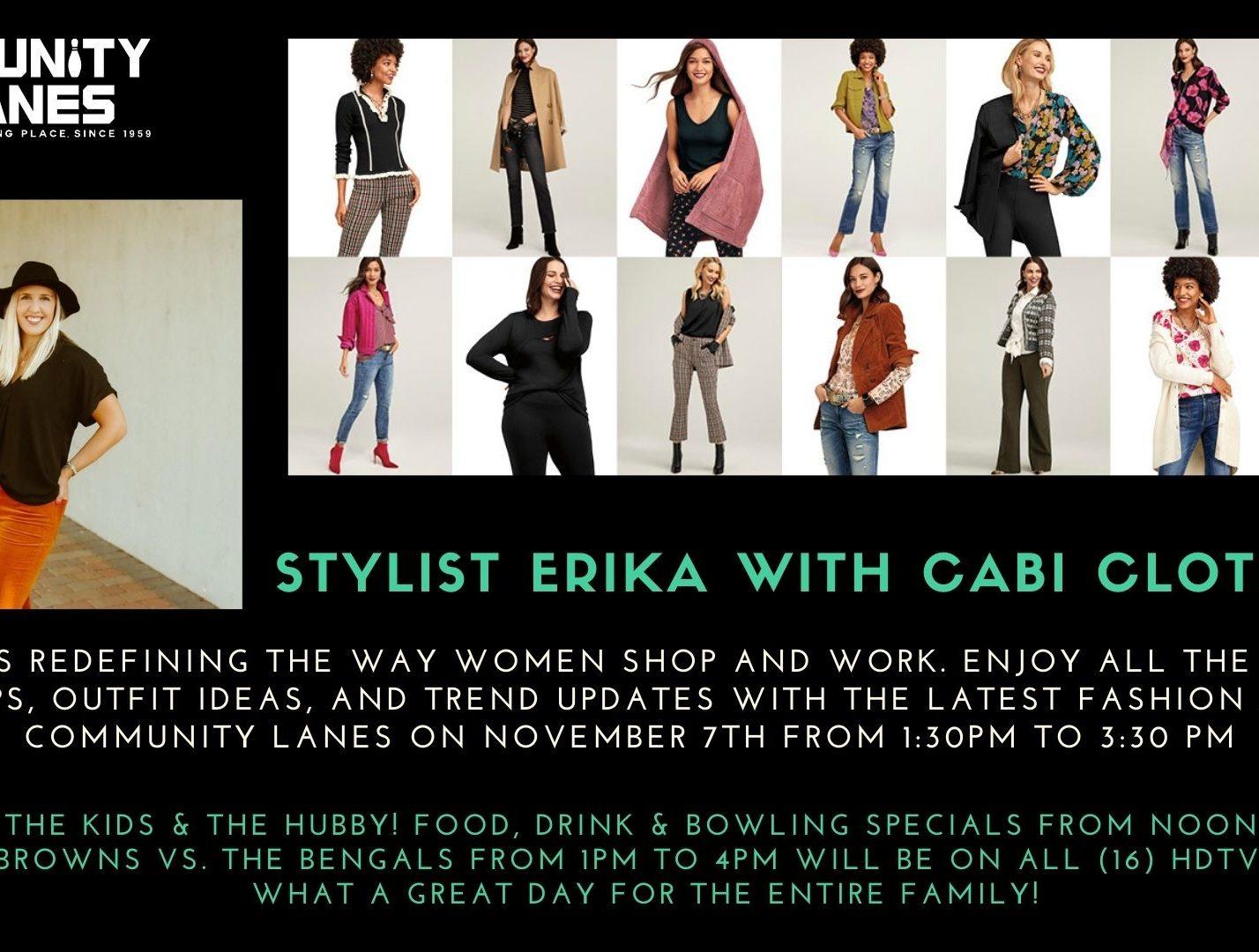 stylist erika with cabi clothing